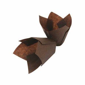 Papirići za muffine - Smeđi